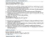 2 Years Experience Mechanical Engineer Resume Mechanical Engineer Resume Sample Writing Tips Resume