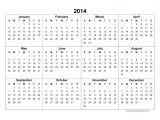 2014 12 Month Calendar Template 2014 Yearly Calendar Template Doliquid