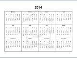 2014 12 Month Calendar Template 5 Best Images Of 12 Month Calendar 2014 Printable