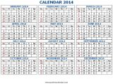 2014 12 Month Calendar Template 7 Best Images Of 2014 Printable Calendar All Months