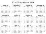 2014-15 Academic Calendar Template 2014 15lscape Gif