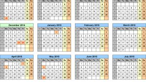 2014 15 Academic Calendar Template 6 Best Images Of Printable School Calendar 2014 2015