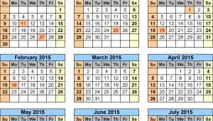 2014-15 Academic Calendar Template School Calendars 2014 2015 as Free Printable Excel Templates