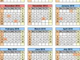 2014 15 Academic Calendar Template School Calendars 2014 2015 as Free Printable Pdf Templates