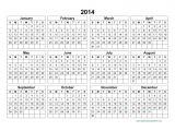 2014 Annual Calendar Template 10 Best Images Of 2014 Annual Calendar Template 2014