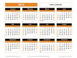 2014 Annual Calendar Template 2014 Calendar Templates and Images Monthly and Yearly