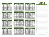 2014 Annual Calendar Template 2014 Yearly Calendar Template Doliquid