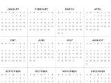 2014 Annual Calendar Template 2014 Yearly Calendar Template Madinbelgrade