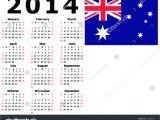2014 Calendar Template Australia 2014 Calendar Flag Australia Stock Vector 122462935