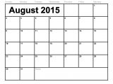 2015 Calendar by Month Template to Fill In Blank Monthly Calendar Template 2015 Calendar