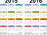 2015 Yearly Calendar Template In Landscape format 2015 2016 Calendar Free Printable Two Year Pdf Calendars