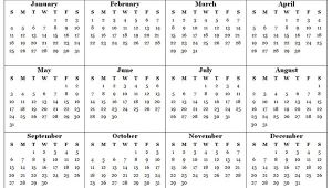 2015 Yearly Calendar Template In Landscape format 2015 Yearly Calendar Template 07 Free Printable Templates