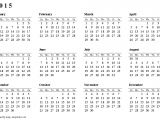 2015 Yearly Calendar Template In Landscape format Free Printable Calendars and Planners 2019 2020 and 2021