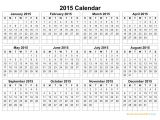 2015 Yearly Calendar Template In Landscape format Printable Calendar 2015 Landscape Printable Calendar