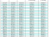 2017 Biweekly Payroll Calendar Template Excel Employee Payroll Calendar Biweekly 2017