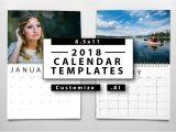 2018 Calendar Templates for Indesign 2018 Calendar Templates Templates Creative Market