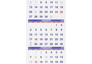 3 Month at A Glance Calendar Template Amazon Com at A Glance Wall Calendar 2016 Vertical 3