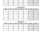 3 Month Calendar Template 2014 6 Best Images Of 4th Quarter 2015 Calendar Printable