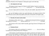 3 Month Employment Contract Template 7 Employment Contract form Samples Free Sample Example