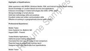 3 Years Manual Testing Sample Resumes 3 Years Manual Testing Sample Resumes New Mobile Qa Tester