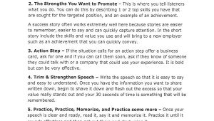 30 Second Pitch Template 11 Sample Elevator Pitch Examples Sample Templates