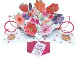 3d Flower Pop Up Card Happy Birthday Pop Up Greeting Card original Second Nature