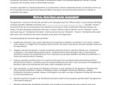 3rd Party Contract Template Sample Non Disclosure Agreement form 10 Examples In Pdf