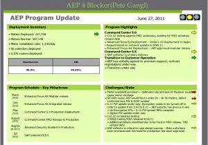 4 Blocker Template Program Management Review Presentation