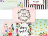 4 X 6 Blank Cards and Envelopes Juvale 48 Pack Bulk Happy Birthday Cards Box Set 6 Unique assorted Watercolor Floral Designs Blank Inside with Envelopes Included 4 X 6 Inches