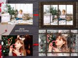 4 X 6 Christmas Card Template Christmas Window Photo Overlay Template Png Photoshop