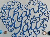 4 X 6 Thank You Cards Handmade Thank You Card 4 X 6 Inches Inside Blank Blue