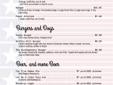 4th Of July Menu Template Holiday Menu Templates From Imenupro More Than Just