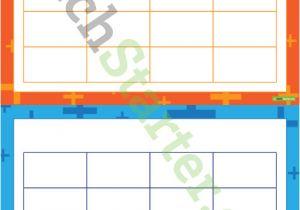 4×4 Bingo Template 4×4 Bingo Board Templates Plus Pattern Teaching Resource