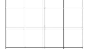 4×4 Bingo Template 4×4 Blank Bingo Card Template Ekaluokkalaisille Luokkaan