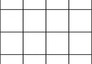 4×4 Bingo Template Pin Picture Bingo Cards that You Can Make 3×3 4×4 and 5×5