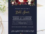 4×6 Wedding Invitation Template Digital 4×6 Fall theme Bridal Shower Invitation Dark