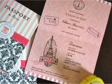5 X 7 Cardstock with Border Updated Paris Passport Invitation Designs with Images
