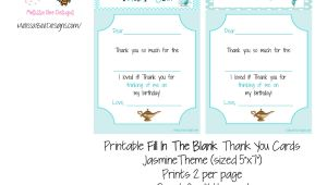 5 X 7 Thank You Cards Printable Fill In the Blank Thank You Cards Sized 5 X 7