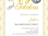 50th Birthday Invite Template Free 50th Birthday Invitation Templates Free Printable A