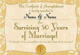 50th Wedding Anniversary Certificate Template 39 Golden Anniversary 39 Personalised Certificate A3