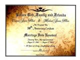 50th Wedding Anniversary Certificate Template 39 Sacred Golden Shimmer 39 Marriage Vow Renewal Certificate