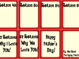 52 Reasons I Love You Template Free Download Father 39 S Day Gift the Gypsy Teacher
