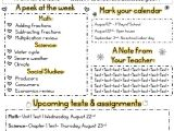 5th Grade Newsletter Template 1000 Ideas About Kindergarten Newsletter On Pinterest