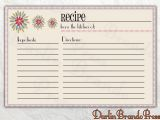 5×7 Recipe Card Template for Word 6 Best Images Of Customizable Printable Christmas Recipe