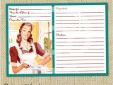 5×7 Recipe Card Template for Word Retro Blank Recipe Card Digital Template 5×7 by Pinkpapertrail