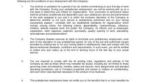 6 Month Employment Contract Template Probationary Employment Contract Sample