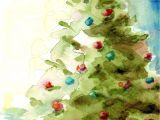 6 X 8 Christmas Photo Cards Weihnachtsbaum Urlaub Druck Von original Aquarell 8 X 10