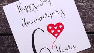 6th Wedding Anniversary Card Uk 6th Wedding Anniversary Card Sugar Anniversary Home