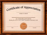 8.5 X 11 Certificate Template Certificate Of Appreciation Template Cyberuse
