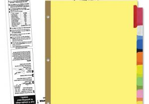 8 Large Tab Insertable Dividers Template 8 Tab Divider Templates software Free Download